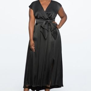 Eloquii Drop Shoulder Gown with Slit